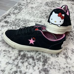 NIB Hello Kitty x Converse One Star suede sneaker